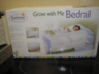 Brand New Childs Bed Guard Rail Summer Infant Grow With Me White