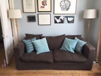 Large 3-seater sofa from Sofa Workshop with brown removable and washable cover