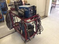 Welder w/ cart and feeder for sale