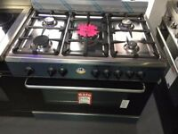 Baumatic Single Cavity 90cm Gas Range Cooker STAINLESS STEEL-NEW EX DISPLAY