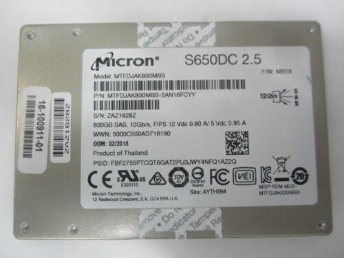 "Micron S650DC 2.5"" MTFDJAK800MBS 800GB SAS SSD"