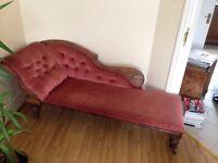 Antique Victorian Chaise Longue- URGENT!