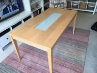 Large, solid wood, dining table