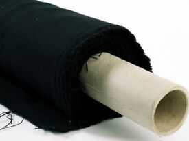 Black Bolton thick blackout material 5 foot wide