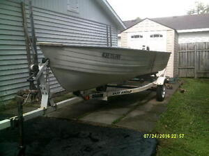 15 crestliner with 20 h.p johnson and trailer. NEW PRICE