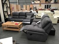 CHESHIRE SOFA SALE DELIVERED - BRAND NEW - FABRIC RECLINER SUITES - NATIONAL SALE - DELIVERED FAST