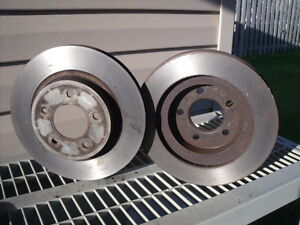 Front brake rotors and pads