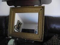 VERY  LARGE  ANTIQUE  FRAMED MIRROR