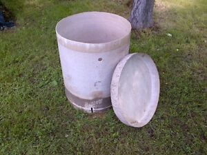 Septic tank manhole extension with lid, fiberglass