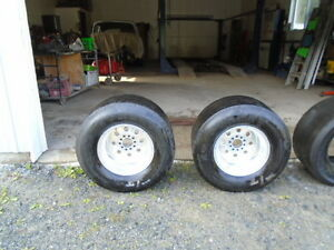 WELD RIMS WITH ET STREET  TIRES