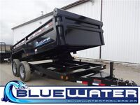 83x14 Tandem Axle Dump Trailer- 3 way gate!! CALL TODAY!