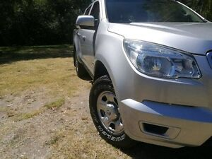 2012 Holden Colorado RG MY13 LX Crew Cab Silver 5 Speed Manual Utility Mount Barker Mount Barker Area Preview
