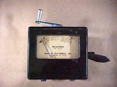 Anpsm-34  Winslow-telectronics 500 V Portable Vintage Megohmmeter Unused