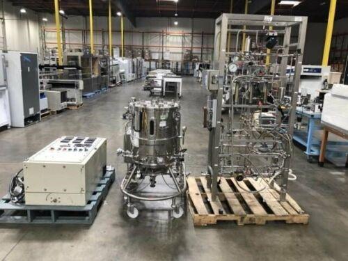LSL BioLafitte SA 130 Liter Jacketed Bioreactor Vessel Fermenter w Control Panel