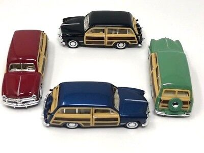 Kinsmart 1949 Ford Woody Wagon 1:40 Diecast Model Toy Car KT5402D Red