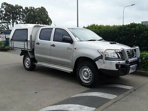 2014 Toyota Hilux KUN26R MY14 SR Double Cab Silver 5 Speed Manual Cab Chassis Acacia Ridge Brisbane South West Preview
