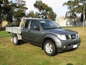 2011 Nissan Navara D40 MY11 RX (4x4) Grey 5 Speed Automatic King C/Chas Invermay Launceston Area Preview