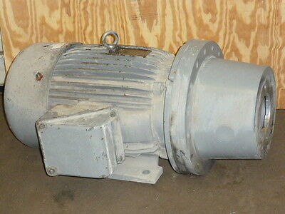 Used Toshiba Electric Motor Whydraulic Pump Adapter Flange 50hp 3 Ph 1770 Rpm