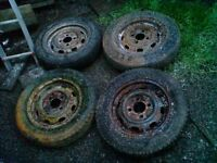 VW Beetle Classic Wheels x 4, need tires, £20 the set - contact 07763119188