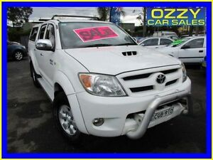 2008 Toyota Hilux KUN26R 08 Upgrade SR5 (4x4) White 5 Speed Manual Dual Cab Pick-up Minto Campbelltown Area Preview