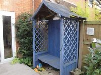 garden Arbour (blue) great addition to any garden