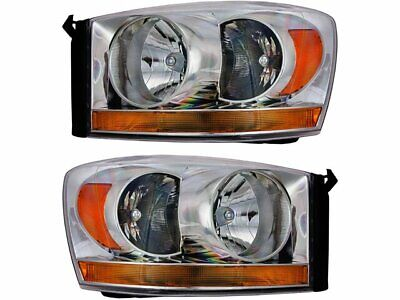 For 2006-2009 Dodge Ram 3500 Headlight Assembly Set 66492BW 2007 2008