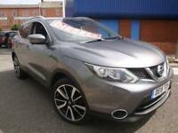15 NISSAN QASHQAI 1.5DCI DIESEL *PAN ROOF*SATNAV*HEATED LEATHER*TAX EXEMPT*