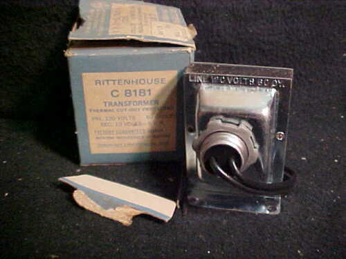 Rittenhouse- C-8181 Thermal Cut-Out Protected Transformer- 120V/ 10 Volts-5 V.A.