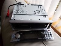 Clarion DB45BRMC CD Stereo Radio with removable front cover and silver surround