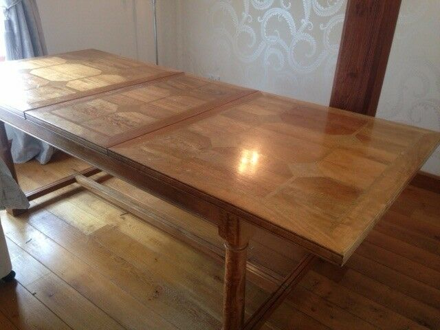 DINING TABLE FLAGSTONE BARKER AND STONEHOUSE REAL HEAVY WOOD QUALITY EXTENDABLE AMAZING ITEM