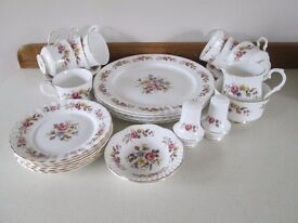 VINTAGE ROYAL STAFFORD-FINE BONE CHINA 29 PIECE TEA SERVICE-PATRICIA PATTERN-COLLECT OSSETT.