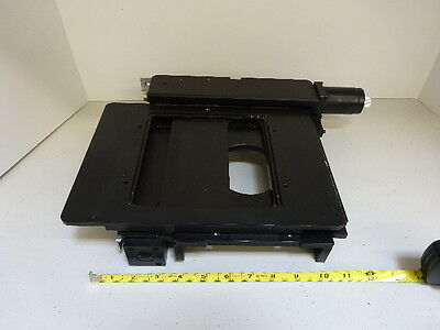 Microscope Parts Leica Reichert Polyvar Specimen Stage Table Optics As Is Tc-1-z
