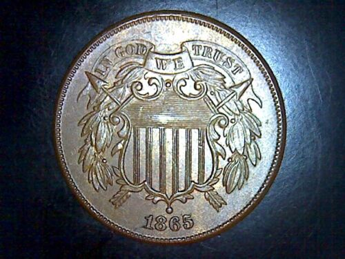 1865 Uncirculated Shield 2 Cent