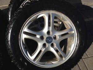 "Staggered winter tires with Hyundai rims p225/50r  p225/55r 17"" Cambridge Kitchener Area image 6"