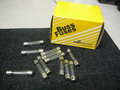 COOPER/BUSS  AGC SERIES 8A 250V FAST ACTING GLASS TUBE FUSE  BK/AGC-8  Qty.5 (Agc Series Glass Fuses)