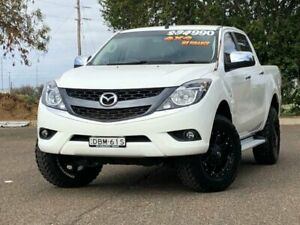 2015 Mazda BT-50 UP0YF1 XTR White 6 Speed Sports Automatic Utility Hillvue Tamworth City Preview