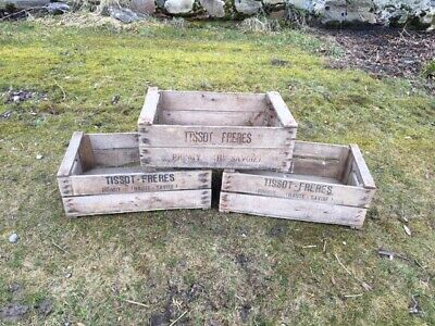 Rustic Vintage French Apple Crates / Vegetable Boxes