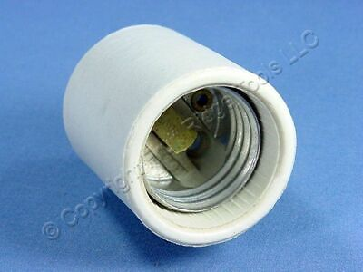 Leviton Unglazed Porcelain Light Socket Lamp Holder Medium 660w BULK 70035-10 for sale online