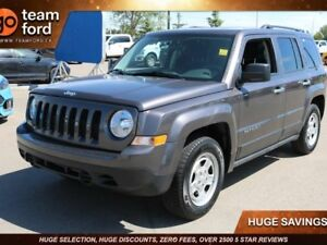 2016 Jeep Patriot SPORT, MANUAL TRANSMISSION, LOW KMS, CLTH, FWD