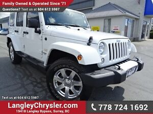 2013 Jeep Wrangler Unlimited Sahara W/ 4X4, TOW PACKAGE & LEA...