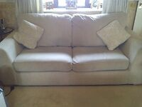 Large 4-Seat Natural/Light Beige Sofa