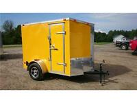 2015 new 5x8 V-Nose 73'' high Yellow w/ Mags