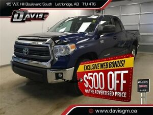 Used 2014 Toyota Tundra 4WD Double Cab SR-HEATED SEATS,BOX LINER