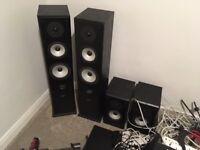 Marantz Amplifier, CD player, AE 2x full standing speakers & 2x shelf speakers - SPEAKERS CRACKLE