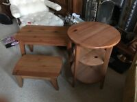 3 small Ikea tables for sale