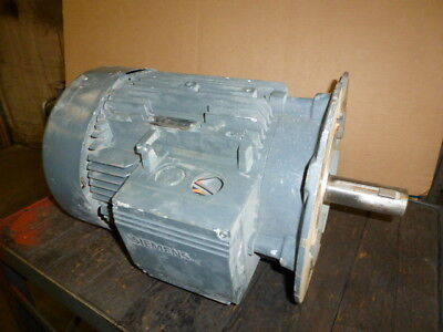 Used Works Siemens Electric Motor 8.6 Kw 11.7 Hp 3 Phase 1160 Rpm 460 Volts Only