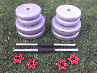 36 lb 16 kg Grey Spinlock Dumbbell & Barbell Weights