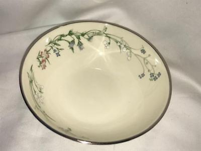 Minton Brookwood Fine Bone China Platinum Trim Fruit Dessert Bowl Royal Doulton