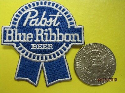 BEER PATCH PABST BLUE RIBBON BEER SMALL CUT OUT LOOK AND BUY NOW FREE SHIPPING!!