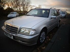 1997 r reg mercedes c180 elegance 1.8 auto estate mot to 12/16 good old cheap car £395